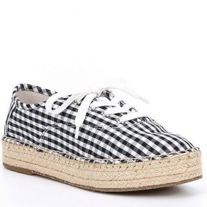 Gianni Bini Espadrille Sneaker Gingham Size 7.5